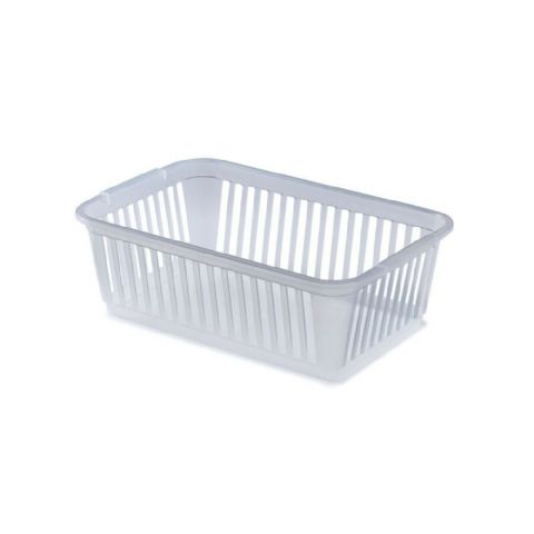 Clear Plastic Storage Baskets & Cupboard Organisers - 4 Sizes